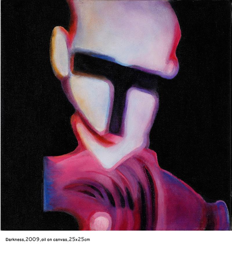 Darkness, 2009,oilon canvas, 25x25