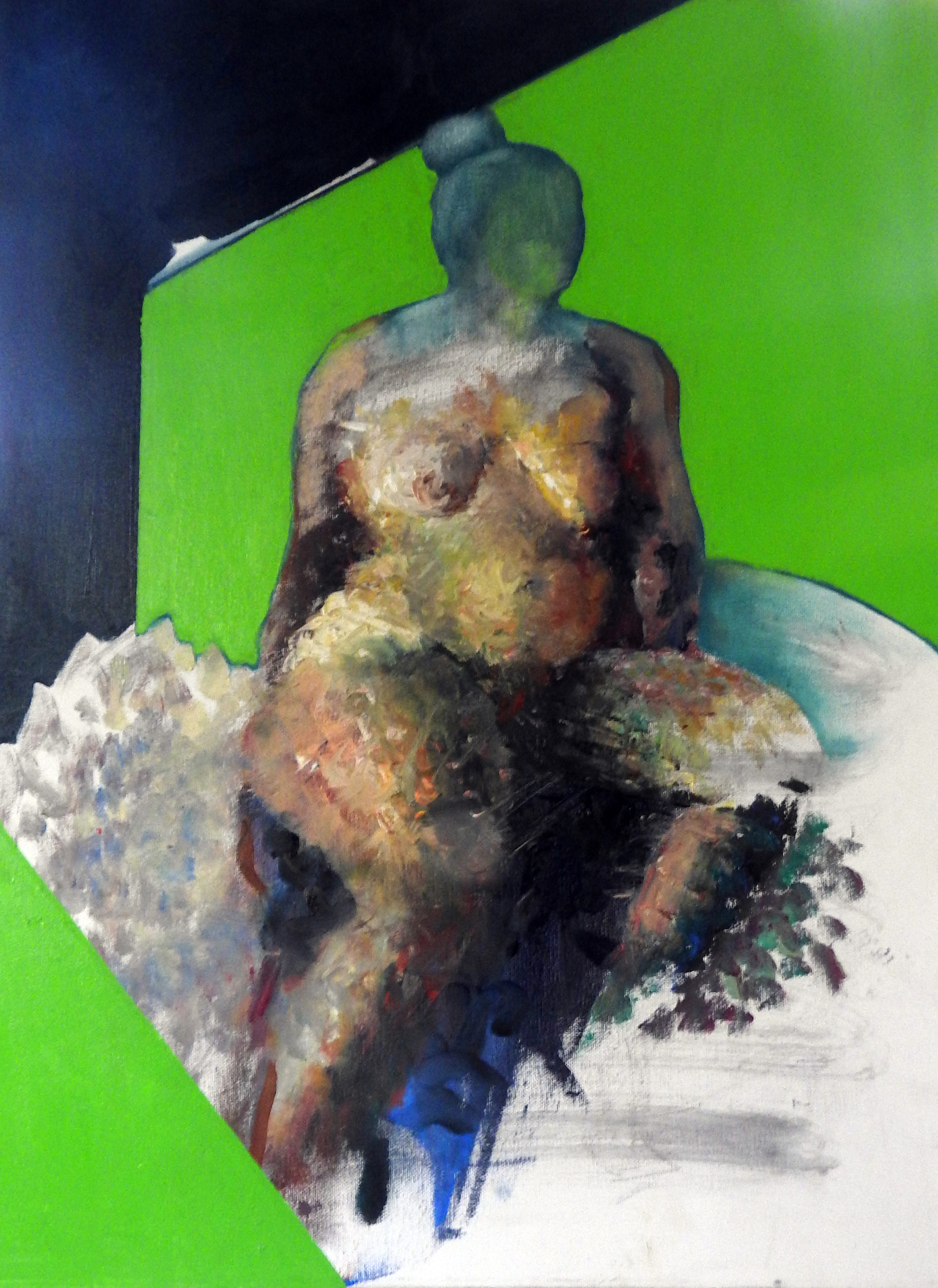 Green, oil on canvas, 60X45,