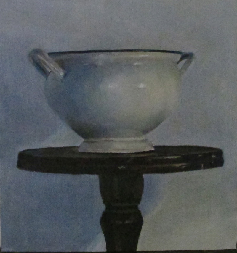 Bowl, 2014, Oil on canvas mounted on wood, 30x35