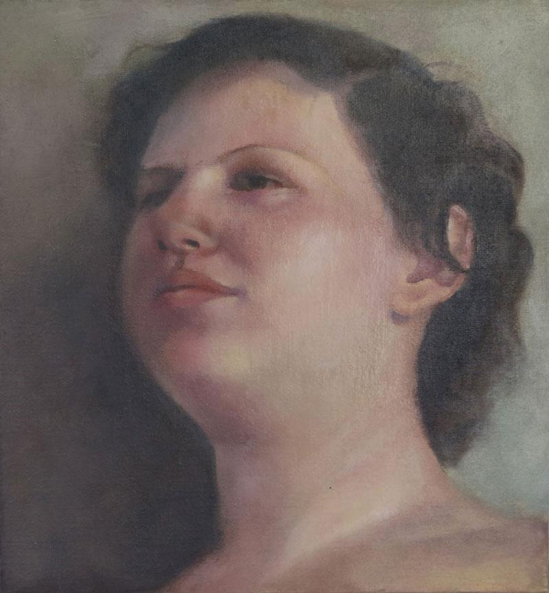 Portrait, 2010, oilon canvas mounted on wood, 27x25