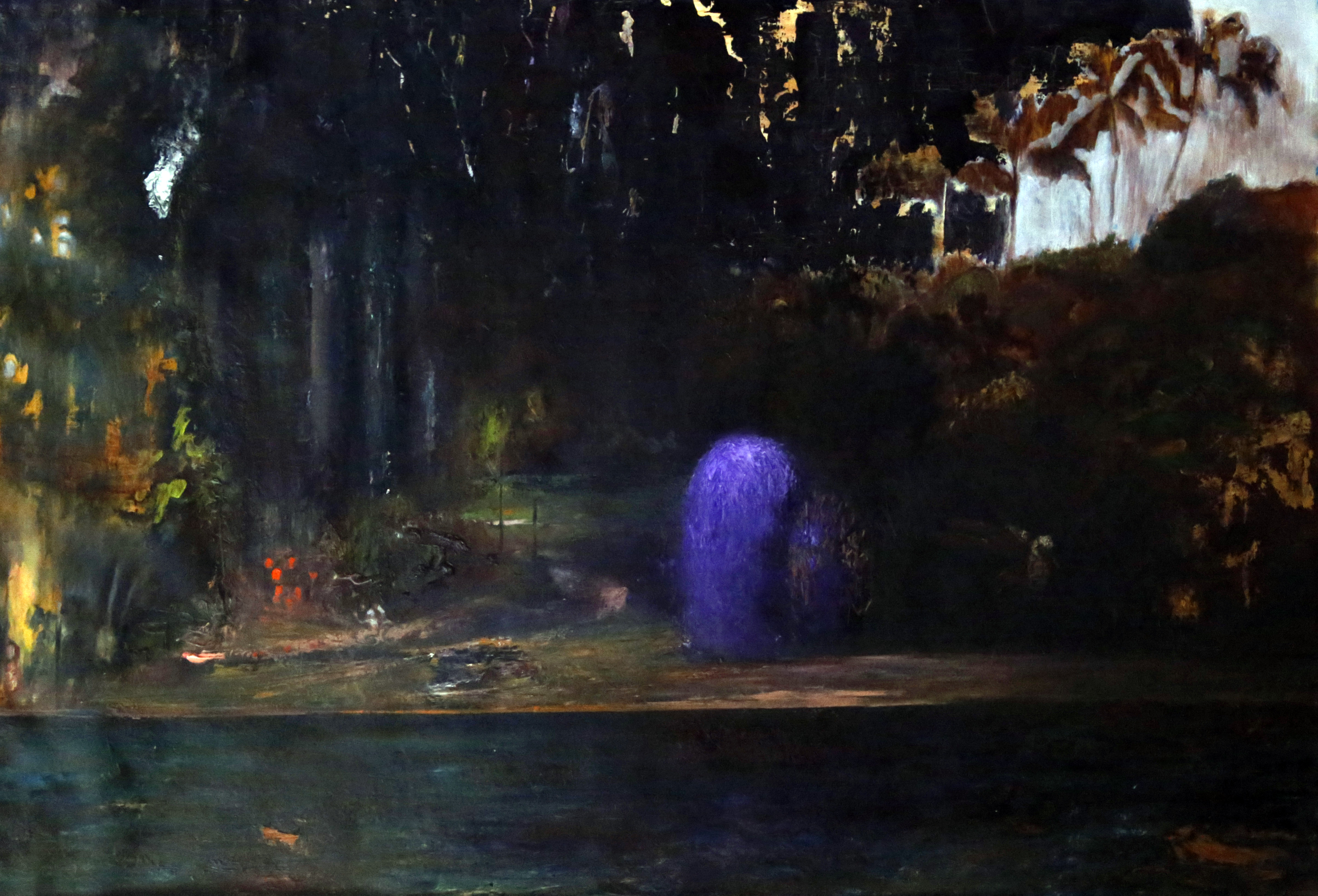 Purple, 2017, oil on canvas, 60X90