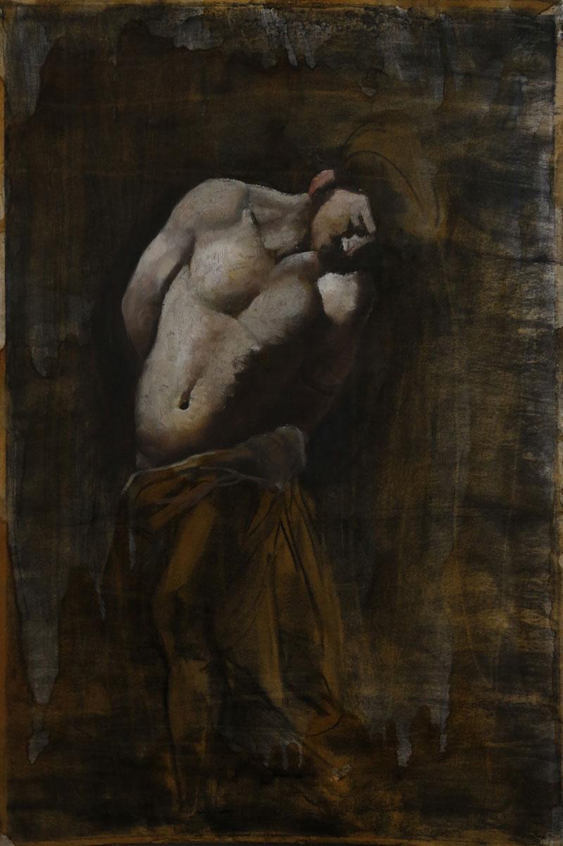 Copy 1 , 2013, oil on paper, 47x38
