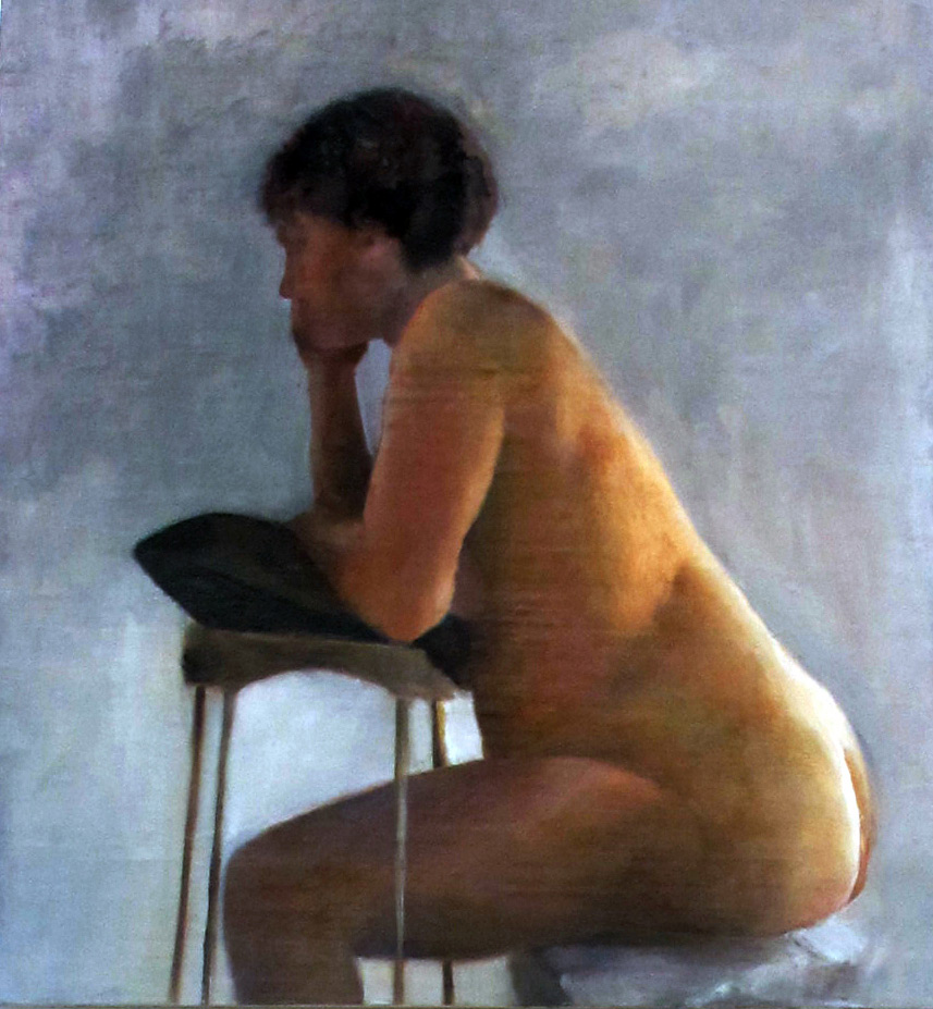 Figure, 2011, oil on canvas mounted on wood, 28x26