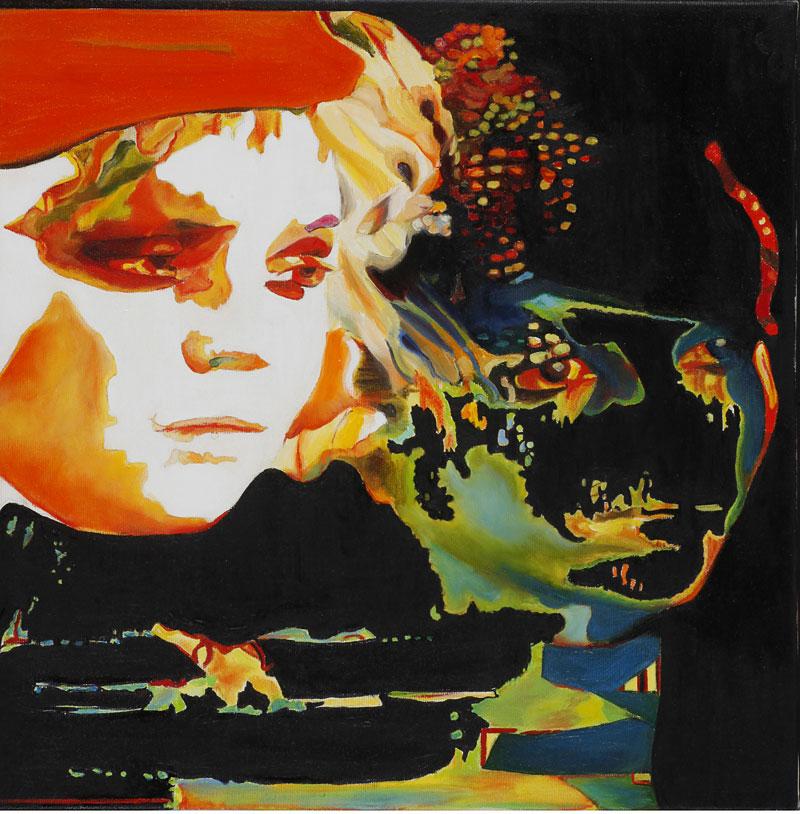 Face,2009, oil on canvas, 40x40
