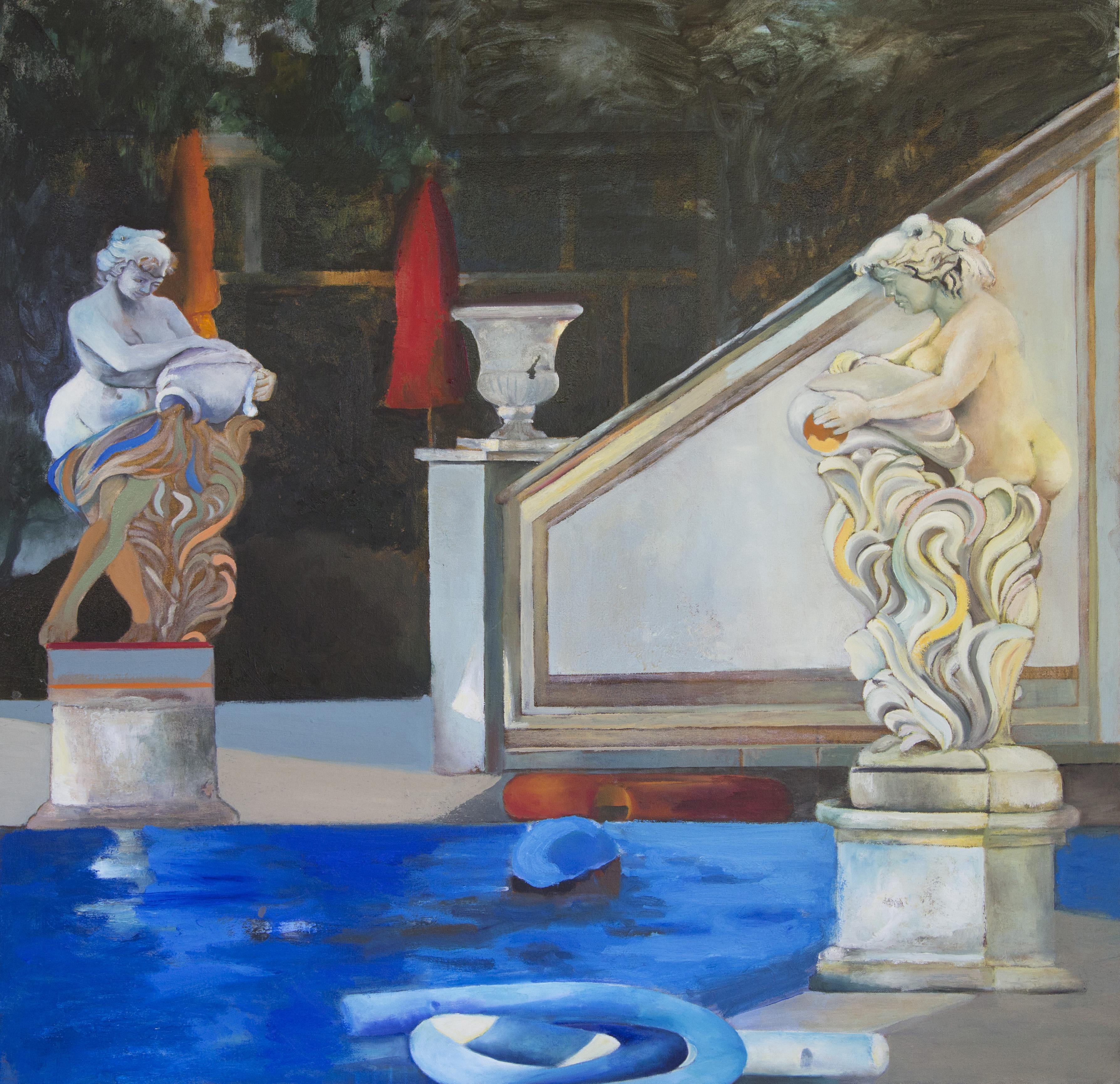 Conversation,2016,Oil on canvas, 100X100