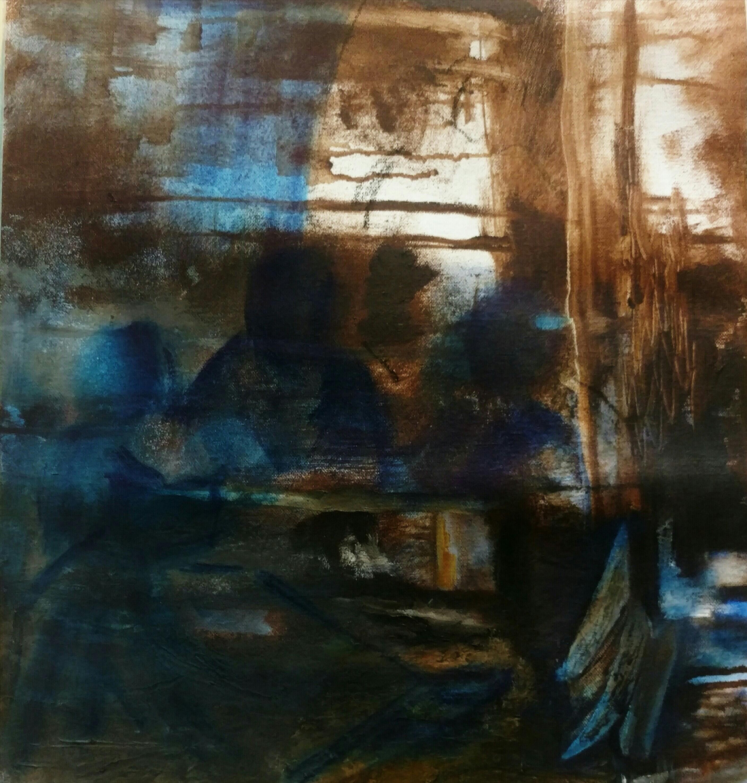Conversation 2, 2017, oil on canvas,41X38