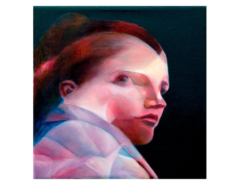 Glance, 2009, oil on canvas, 30x30