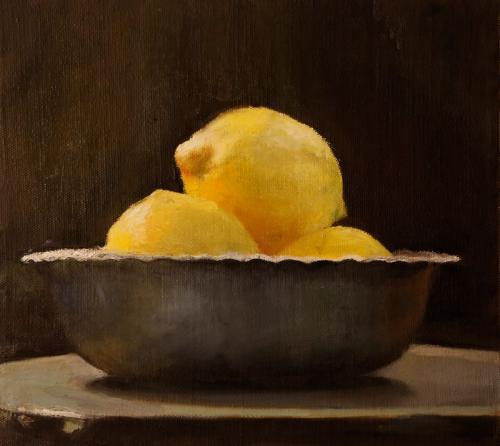Lemones-2013-oil-on-canvas-mounted-on-wood-26x28