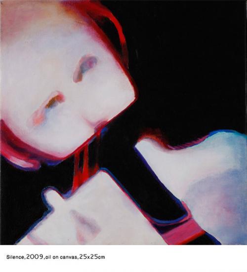 Silence2009-oil-on-canvas-30x30