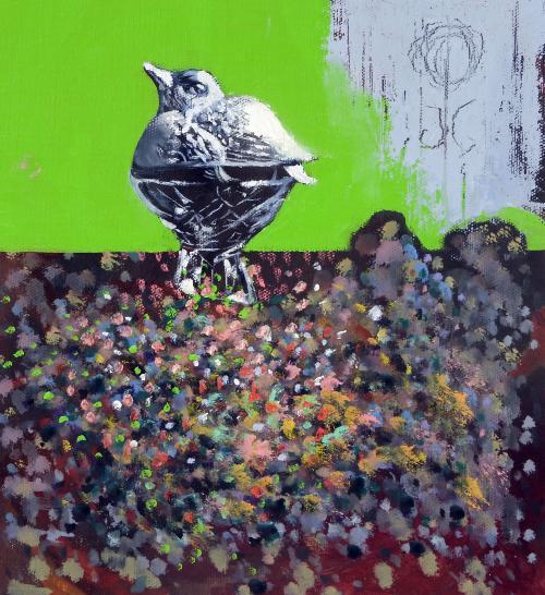 Bird-oil-on-canvas-30X26