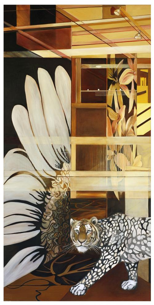 Strip-leopard2008-Oil-on-canvas-150x78