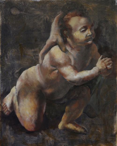 Following-Leonardo-2013-oil-on-paper-56x38